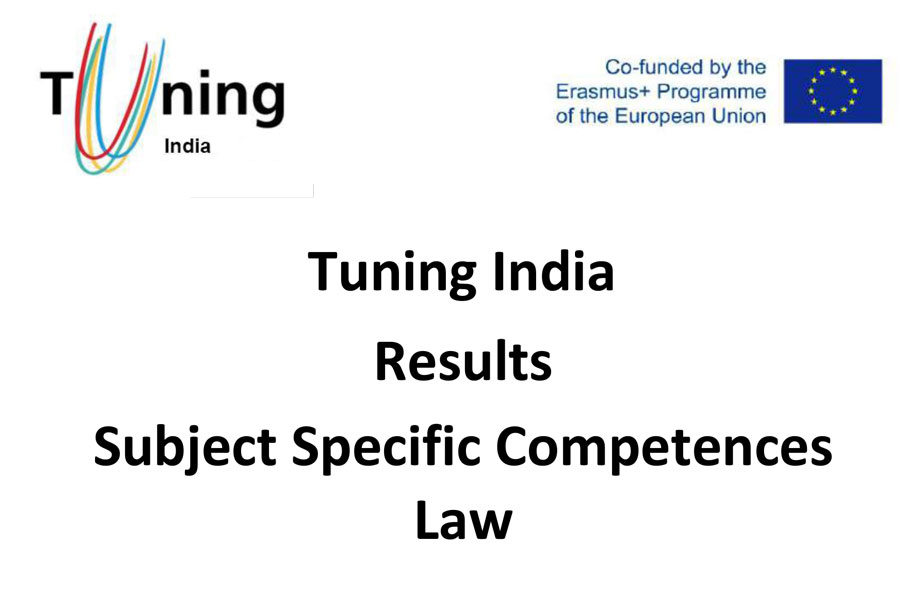 Tuning India Results Subject Specific Competences Law