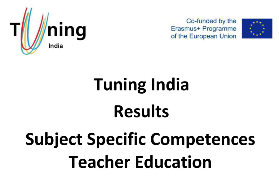 Tuning India Results Subject Specific Competences Teacher Education