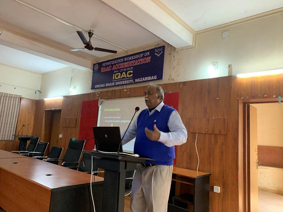 Workshop on NAAC Accreditation, IQAC, VBU - Vinoba Bhave University
