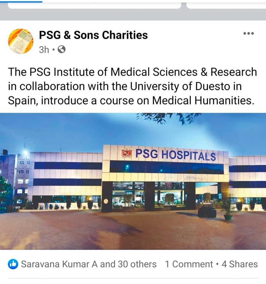 PSG Insitute of Medical Science and Research